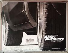 Cinema Poster: FAST & FURIOUS 7 2015 (Advance Quad) Vin Diesel Paul Walker