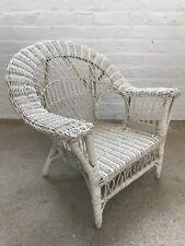 Vintage Children's Wicker White Chair, Good Condition! $150