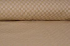 Bio-Baumwolle, kariertes Muster, Beige-Braun - 8 Euro/m