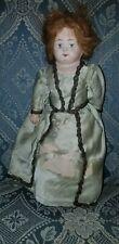 """Antique Paper Mache Papier Mache Shoulder Head Doll 10 1/2"""""""
