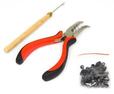 Feather Hair Extension Tool Kit for Micro Ring Beads
