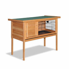 Hinged Lid Rabbit Hutch Chicken Coop Guinea Pig Ferret Cage Hen House 1 Storey