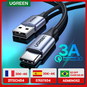 UGREEN USB C Cable for Xiaomi Redmi Note 10 USB Type C 3A Fast Phone Charging