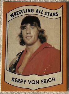 1982 Wrestling All Stars Series B Kerry Von Erich Rookie #7 In The Set Sharp