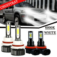For Mitsubishi Mirage G4 2017 2018 - 4PC LED Headlight H-L Fog Light 6000K Bulbs