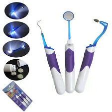 3 pcs Oral LED Cleaning Tool Dental Mirror Plaque Remove Tooth Stain Eraser  Hot