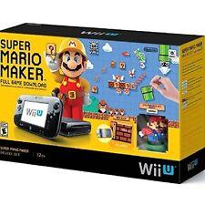 Super Mario Maker Console Deluxe Set Nintendo Wii U Very Good 1Z