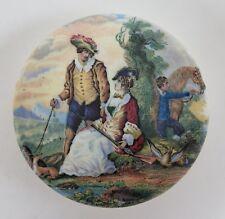 Pot lid. 'The Fair Sportsman' No.250