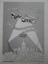 6/1979 PUB BELL HELICOPTER PARIS EIFFEL LE BOURGET BELL 222 ROBINSON GERMAN AD