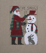 2018 Yearly Santa Snowman Prairie Schooler Cross Stitch Pattern