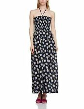 New UK10 Great Plains navy shelly halterneck printed cotton maxi dress RRP£45