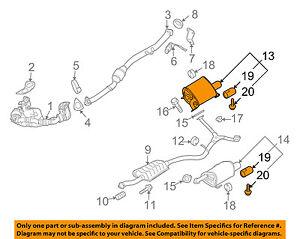 SUBARU OEM 09-13 Forester 2.5L-H4-Muffler Right 44300SC152