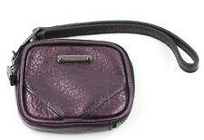 Burberry Coin Purse Wristlet Small Metallic Blackberry Dark Purple RRP £225