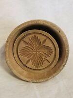 Antique Vintage Wooden Butter Mold Press Carved Design