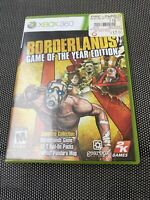 Borderlands Game of the Year Edition Microsoft Xbox 360 Complete w/Manual CIB