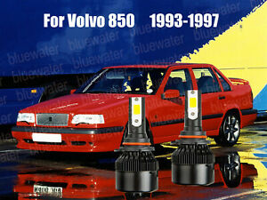 LED For Volvo 850 1993-1997 Headlight Kit 9006 HB4 White CREE Bulbs Low Beam