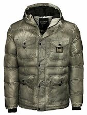 NEW MENS JACKET VOI JEAN IN DESIGNER GREY COAT ZIP BUTTON COAT RRP £60.00