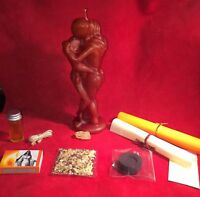 ☆KIT RITUAL VOODOO DOLL ☆ WOMAN BLACK Kit with Instructions
