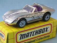 Matchbox Corvette T Techo Plata Cuerpo Juguete Modelo Muscle Car en cuadrícula De 65mm