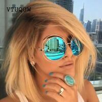 2019 Fashion Oversized Round Sunglasses Women Brand Designer Vintage Mirror Sung