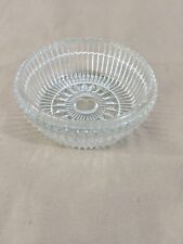 "G27 Pressed Glass Clear Candy Dish Bowl 5.75"" Diameter"