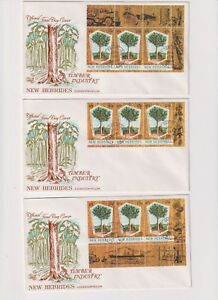New Hebrides - English FDC Timber Industry 1969 Lot of 3