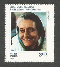 India 1985 Indira Gandhi Priyadarshini MNH