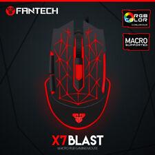X7 Souris de jeu PC 4800DPI Avec fil Optique USB filaireRétro-éclairage LED RGB