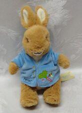 """The Original Peter Rabbit 8"""" Beatrix Potter 2008 Bunny Plush Blue Suede Jacket"""
