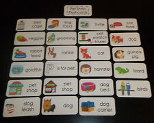 23 Pet Shop themed Flash Cards. Educational learning activity for children