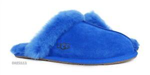 UGG Scuffette II Classic Blue Fur Slippers Womens Size 11 *NEW*