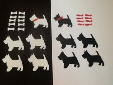 10 x Scottie dog die cuts with collar and bone  **FREE UK POSTAGE**