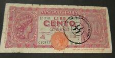 BANKNOTE. ITALY. BILL. 100 LIRE. LIRA. SS WAFFEN STAMPS WW2 85