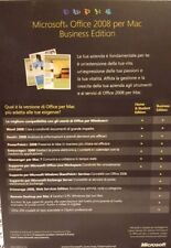 MICROSOFT Office per Mac 2008 Business edition 2 dvd  ita originale cofanetto