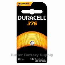 1 x 376 Duracell Button Cell Battery  (377, 376, AG4, SR626SW, SR66, G4, BA)