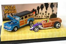 FORD 1948 Woodie WOODY CUSTOM Roadster sauvage bois set hot wheels 56925 1:64 NEUF