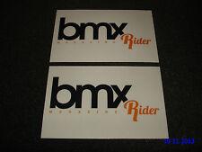 2 Authentic BMX Rider Magazine PROMO STICKERS/DECALS/aufkleber