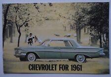 CHEVROLET 1961 range orig USA Mkt brochure - Impala Bel Air Biscayne Corvette