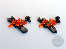 Pyrkol crashed planes in flames Markers Designed for Wings of War WWI / Tokens