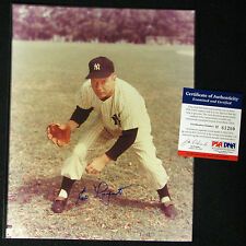 Ed Lopat NY Yankees Signed 8x10 Color Photo died-1992 PSA/DNA