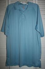 Ashworth AWS Weather Systems Blue Poly Short Sleeve Golf Polo Shirt~sz XXL