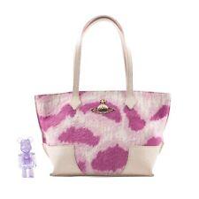 Authentic Vivienne Westwood Pink Leopard Print Pony Skin Fur Bag Vintage