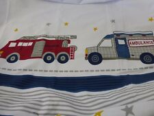 "Authentic Kids Emergency Crew 100% Cotton Fabric Shower Curtain 72"" x 72""  NIP"