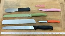 5 Pampered Chef Stainless Steel Kitchen Chef's Knives Paring Sandwich Bread
