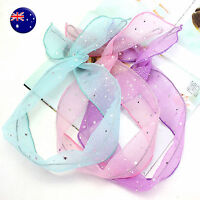 Women Girl Retro shimmer Wire Bunny Ear adjustable bow scarf Hair head band Wrap