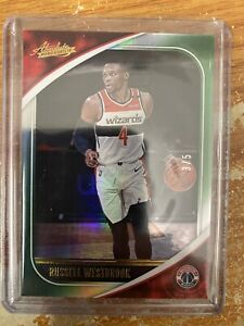 2020-21 Panini Absolute Russell Westbrook Green Parallel 3/5 First Wizards Uni