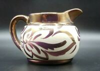 "Wade Copper Pink Luster Pitcher 1 3/4"" in Height Heath England"