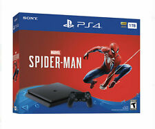 Sony PlayStation 4 Slim 1TB Console Spiderman Bundle - Jet Black
