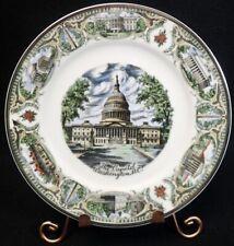 """vintage U.S State Souvenir Plate Washington D.C. Large 10 1/4"""""""