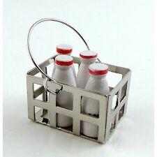 1/12 Scale Dolls House Emporium Milk crate & 4 milk bottles 5587